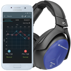 Smartphone Audimetrias HearTest